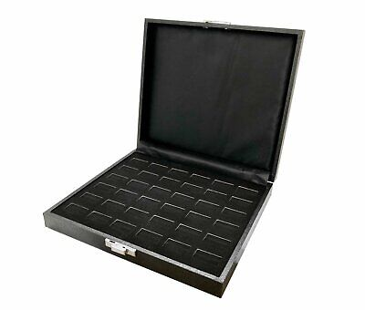 36 Slot Jewelry Ring Case Display Velvet Storage Travel Box
