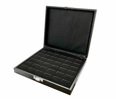 36 Slot Jewelry Ring Case Display Velvet Storage Travel Box