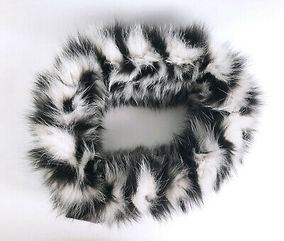 Fur collar Prabal Gurung - White and black fox [NEW WITH TAG. OP: 1595USD]