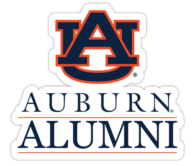 Auburn University 4-Inch Laser Cut Alumni Vinyl Decal Sticker