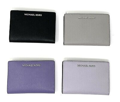 Michael Kors Jet Set Travel 2 In 1 Leather Medium Card Case Carryall Wallet  2 Travel Cases