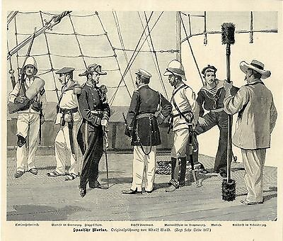 Adolf Wald ( Spanische  Marine ) Militärische Graphik von 1898