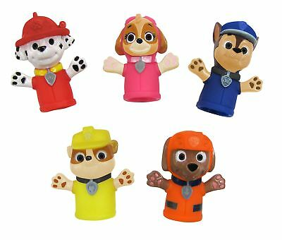 Nickelodeon Paw Patrol Finger Puppets Baby Bath Toys Set of 5 Puppets