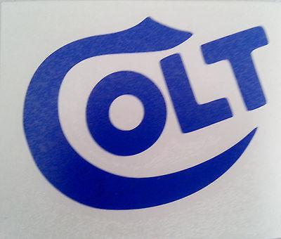 COLT Logo Blue Vinyl Die Cut Gun Firearms Decal Sticker