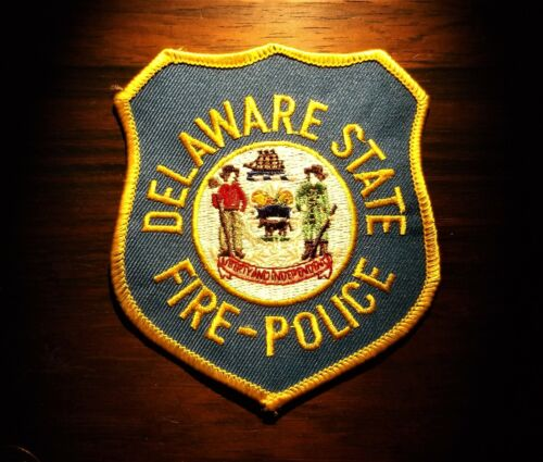 GEMSCO NOS Vintage Patch - POLICE STATE of DELAWARE FIRE POLICE -  25+ year old