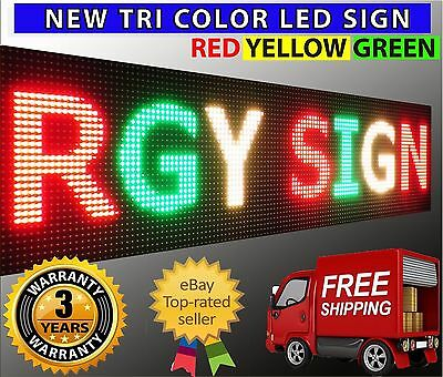 19 X 38 Tri Color Red Yellow Green Programmable Digital Open Led Sign Outdoor