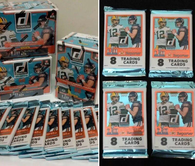 2 Pack Lot Possible Patrick Mahomes Rookie 2017 Donruss Football Jumbo Packs
