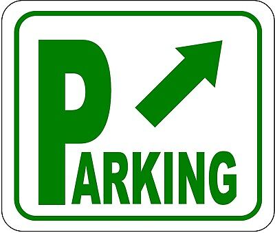 Parking Sign Aluminum Top - Directional Parking Sign with arrow pointing top right METAL Aluminum Composite