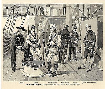 Adolf Wald ( Amerikanische Marine ) Militärische Graphik von 1898