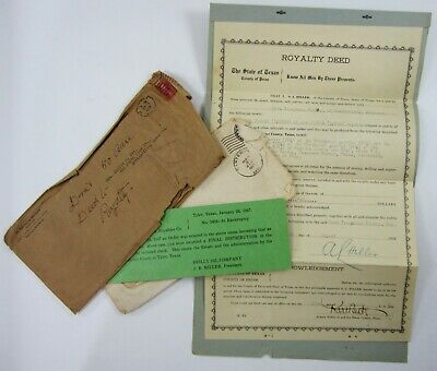 Vintage Reilly Oil Company Royalty Deed Well Drilling Speculation Tyler Tx 1928