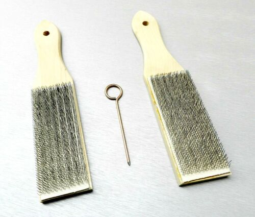 2 Piece FILE CARD Cleaner & Pick File Brush Clean Files Remove Chip LUTZ #10 USA