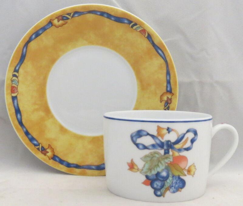 Bernardaud Borghese Flat Cup & Saucer Set