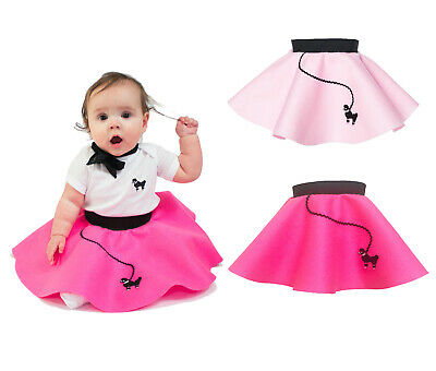Hip Hop 50s Shop Baby/Infant Girls 6-12 Month Poodle Skirt Halloween Costume](Halloween Costumes 50's Girl)