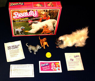 BARBIE BEAUTY AND PUPPIES IN ORIGINAL BOX 1981