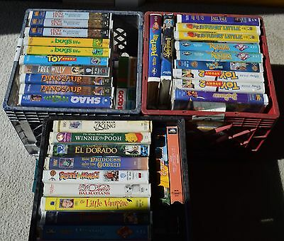HUGE Lot of Walt Disney & MORE VHS! PICK ANY 10 TAPES!
