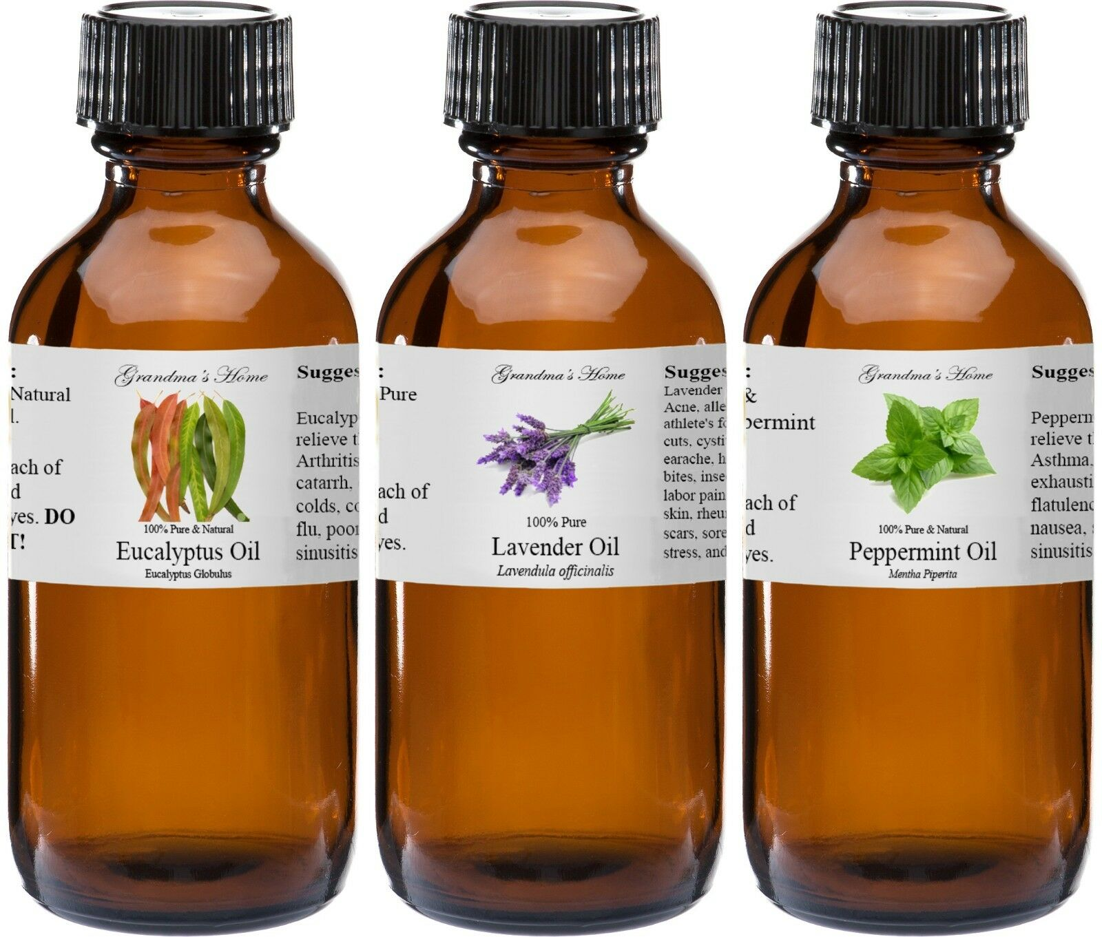 4 oz Essential Oils - 4 fl oz - 100% Pure and Natural - Therapeutic Grade Oil!