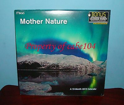 Mother Nature - A Sixteen-month Wall Calendar By Mead - 2013 - New