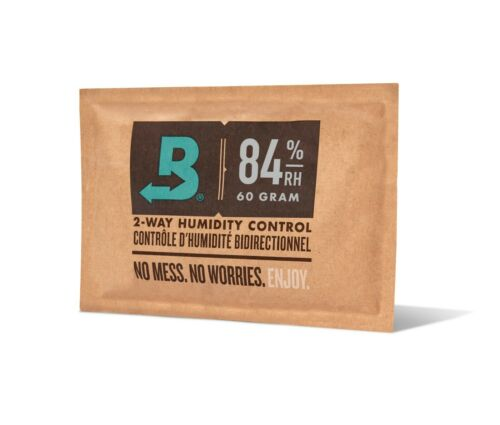 Boveda 84% RH 2-Way Humidity Control | Size 60 for Humidor Seasoning | 1-Count