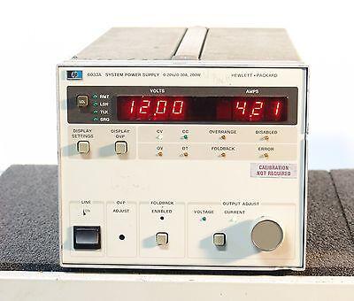 Hpagilent 6033a System Autoranging Dc Power Supply 20v 30a 200w