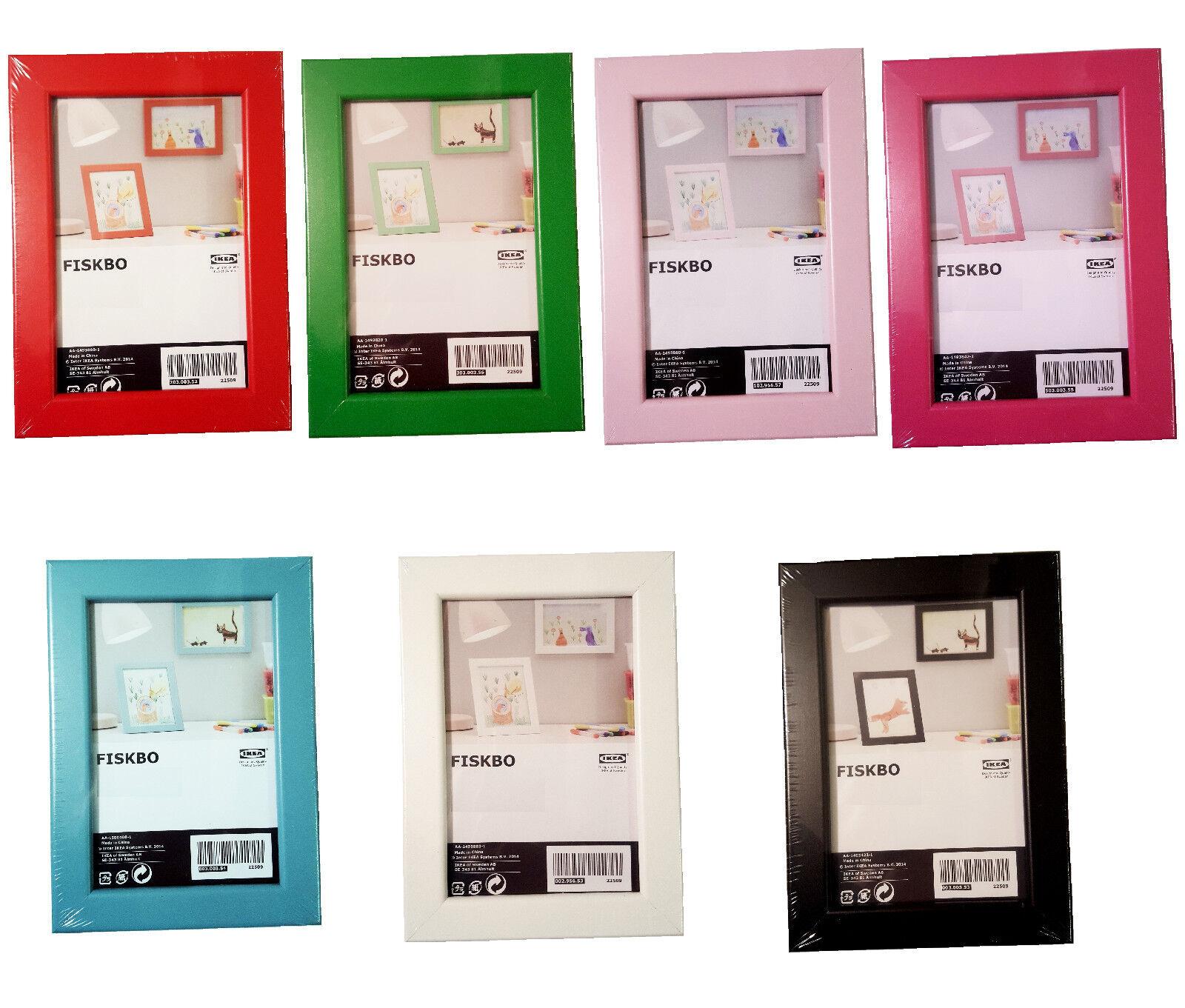 IKEA FISKBO Bilderrahmen / Fotorahmen 10x15 cm /13x18 cm /21x30 cm ...