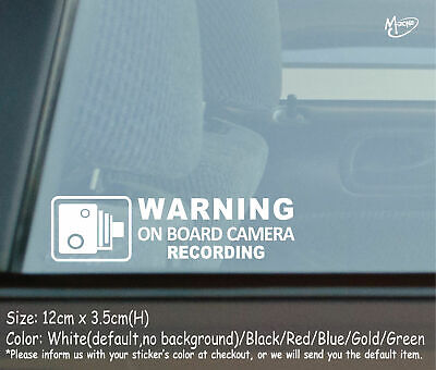 ON BOARD CAMERA RECORDING Car Security Stickers Anti Theft Decals Best
