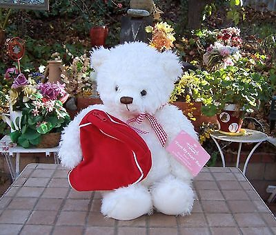 Hallmark 2003 From My Heart Valentines Day Bear Plush ZIPPE RED Heart Bag