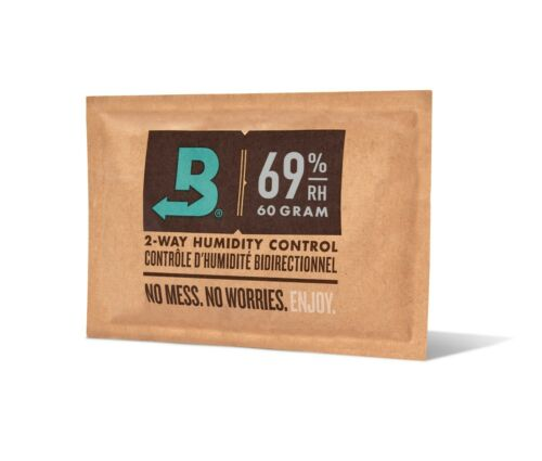Boveda 69% RH 2-Way Humidity Control | Size 60 for Every 25 Cigars | 1-Count