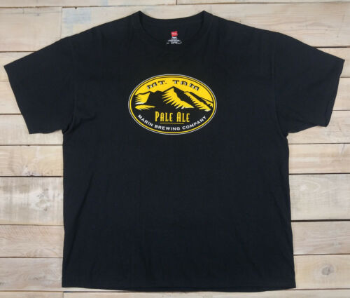 New MARIN Brewing Company Mt. Tam Pale Ale Beer California Black T-Shirt Size XL