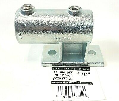 Steel Tek Structural Fittings 674-406hc 1-14 Railing Side Support Veritcal