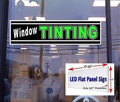 Window Tinting Led Illuminated Window Sign 48x12 Flat Panel Led Sign