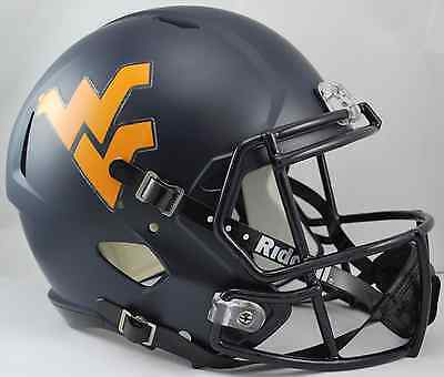 WEST VIRGINIA MOUNTAINEERS WVU Riddell SPEED Full Size Replica Football Helmet ()