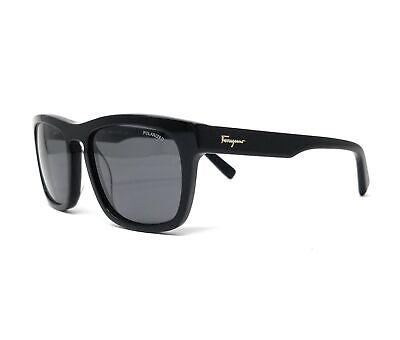 Salvatore Ferragamo Sunglasses SF789SP 001 Black Men's Polarized 55x19x145