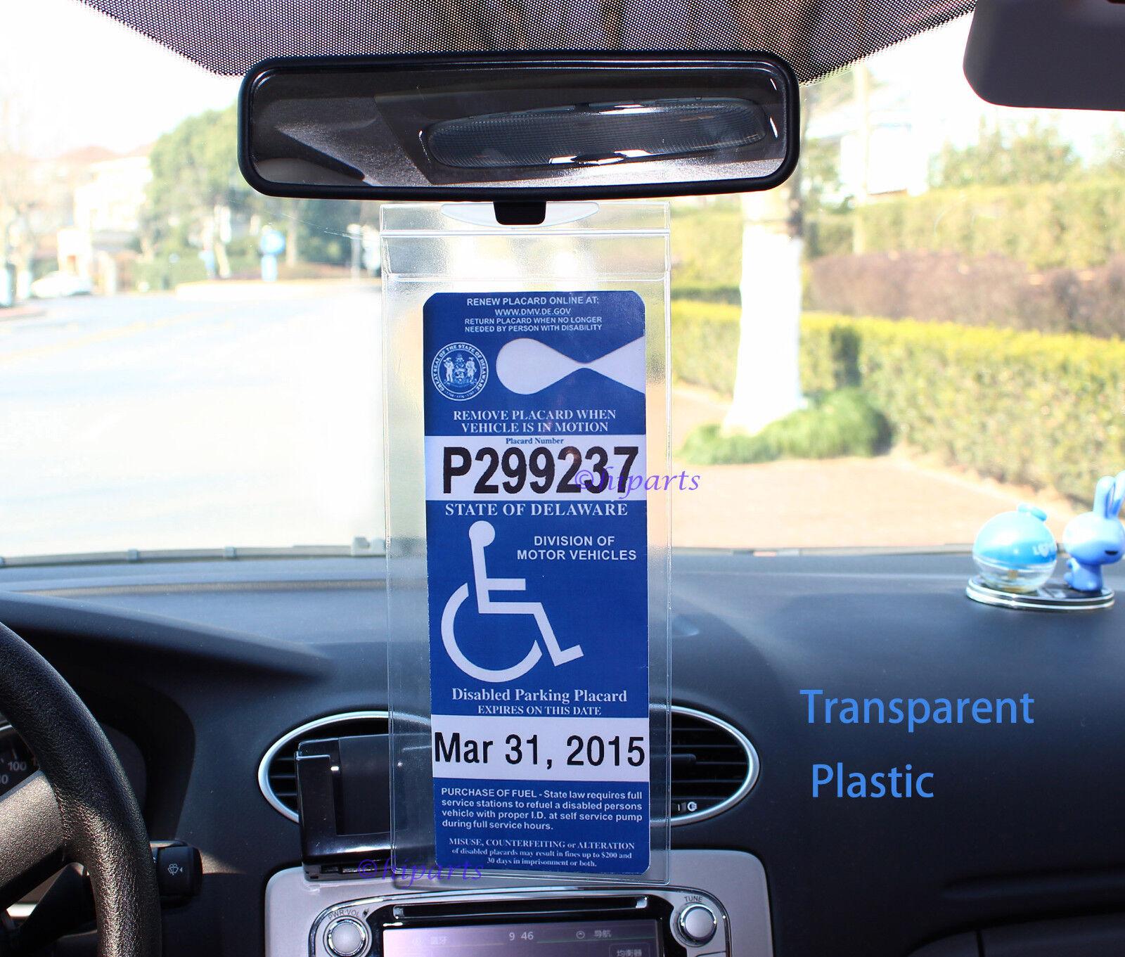 2pcs Handicap Disabled Parking Permit Placard Protector ...