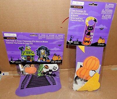 Creatology Halloween Foam Activity Kits (Halloween Foam Activity Kits Build A Scene Doorhanger Creatology 52pc Total)