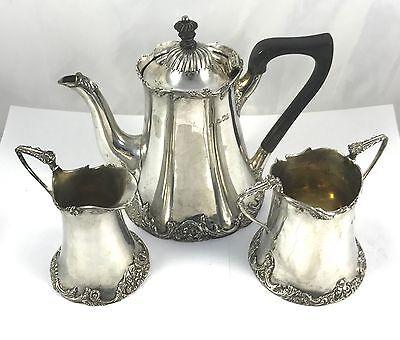 Antique Hallmarked Solid London Silver Tea Set Josiah Williams & Co 1902 896g