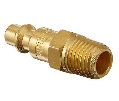 "Amflo CP21B Plug, 1/4"" I/M Design, 1/4"" MNPT, Brass Plated"