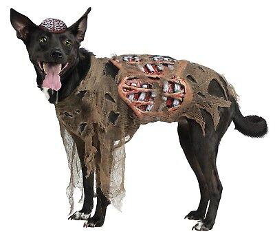 Fun World Zombie Dog Living Dead Brains Bones Scary Pets Halloween Costume 90060