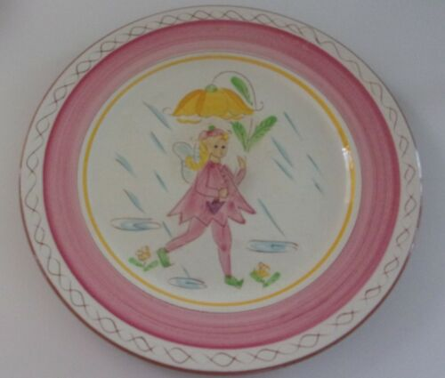 1950s Vintage Stangl Pottery Kiddieware Pink Fairy Child