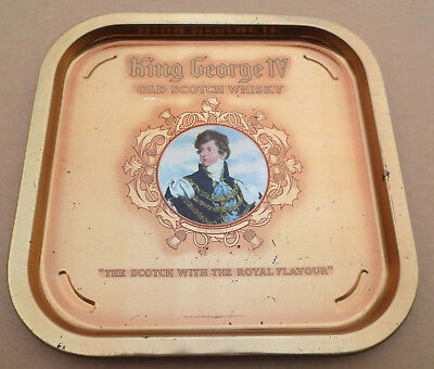 King George IV Old Scotch Whisky Scotch Serviertablett Tablett 35,1cm x 35,1cm