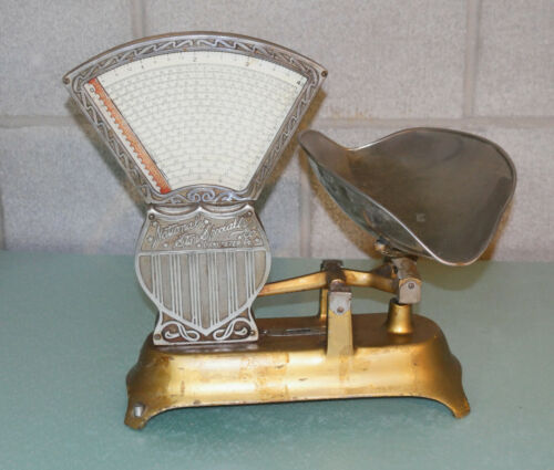 """Antique National Store Specialty Company Candy Scale 4lb Lancaster PA """"Original"""""""