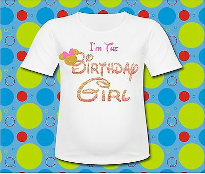 Minnie Mouse Gold Chevron Im  the Birthday Girl T Shirt All Sizes