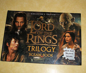 2004 NEW NOS COLLECTOR EDITION LORD OF THE RINGS TRILOGY BIG JIGSAW PUZZLE BOOK