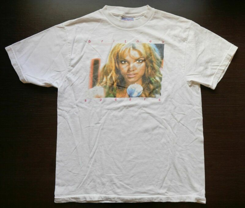 vintage BRiTNEY SPEARS T SHiRT, Youth Large (37.5/Chest) 2000 Hit Me Baby, Oops