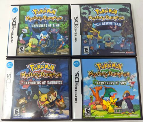 Pokemon Mystery Dungeon Collection Lot Case and Manual Only No Game