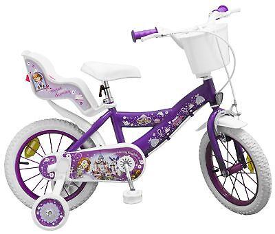Kinderfahrrad Disney Prinzessin Sofia 14 Zoll Kinder Mädchen Fahrrad Puppensitz Prinzessin Sofia Disney
