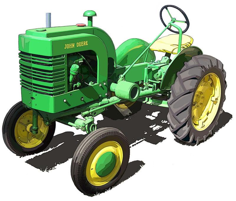 John Deere Model L canvas art print by Richard Browne farm tractor