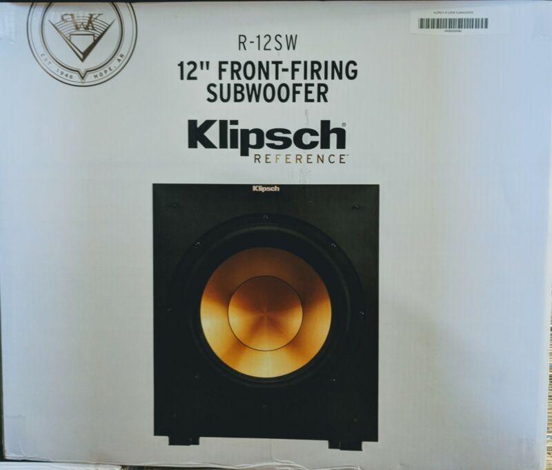 Open Box Klipsch R-12SW 12-Inch Front Firing 400-Watt Max Powered Subwoofer