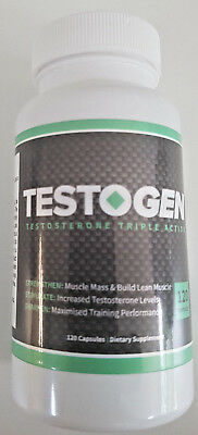 TESTOGEN- NEW REVOLUTIONARY FORMULA TO BOOST STRENGTH & TESTOSTERONRE-120 CAPS