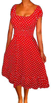 Gt Red Apparel (GT@ Funfash Plus Size Women Red White Polka Dot Flare Dress Made in USA XL 1x 2x )