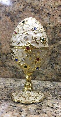 Decorative Jewelry Box / Music Box JEWELED EGG, FREE SHIPPING, BEJEWELED Trinket ()